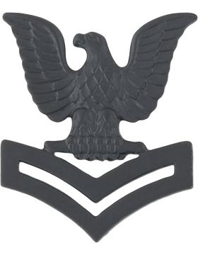 Navy Black Metal Collar Device NY-B221 2nd Class Petty Officer