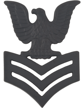 Navy Black Metal Collar Device NY-B222 1st Class Petty Officer