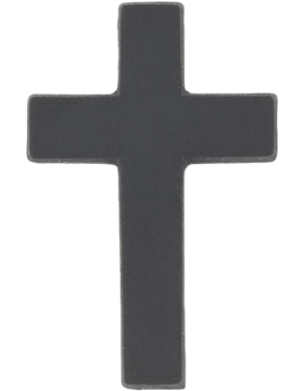 Navy Black Metal Collar Device NY-B608 Officer Christian Chaplain (Each)