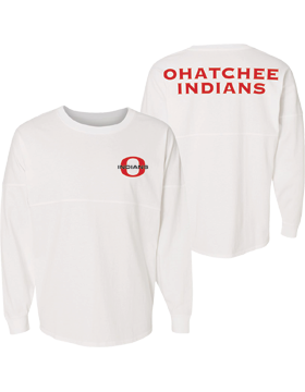 Ohatchee Indians J. America Game Day Long Sleeve Jersey 8229