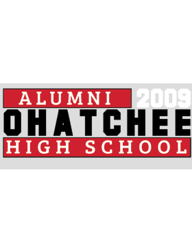Ohatchee HS with Year Customizable Alumni Bumper Sticker