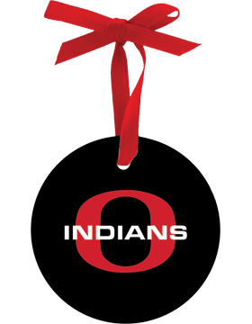 Ohatchee Indians Christmas Ornament Round