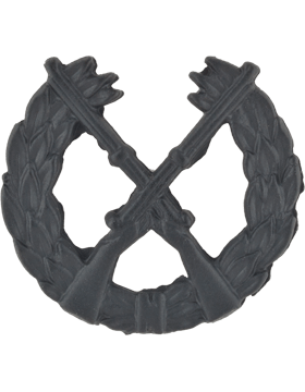 Opfor Black Metal Infantry Pin-on Wreath with Crossed Rifles