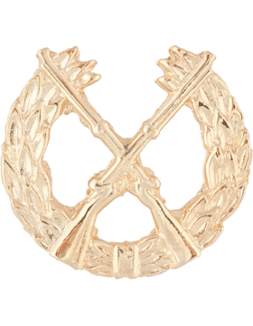 Opfor No-Shine Infantry Pin-on Wreath with Crossed Rifles