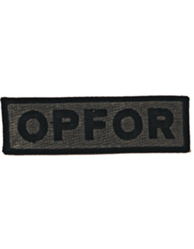 Opfor Name Tape Subdued with Black Letter