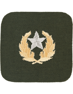 Opfor Hamby Second Class Green with Gold Design and Silver Gray Star