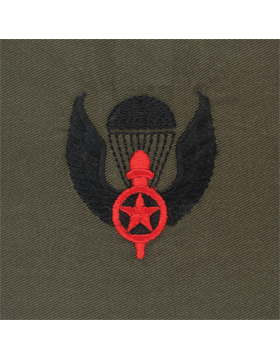 Opfor Para Wing Sew-on Black and Red on Olive Drab