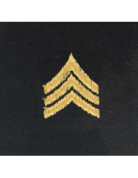 Opfor Sergeant Sew-on Rank Gold Metallic on Black