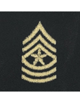 Opfor Sergeant Major Sew-on Rank Gold Metallic on Black