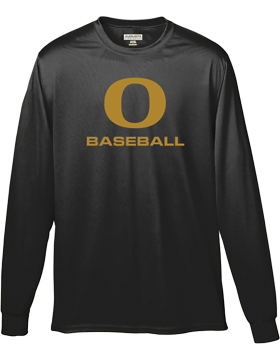 Oxford Baseball Under Gold O Wicking Long Sleeve Crew 788
