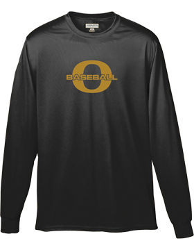 Oxford Baseball Through Gold O Wicking Long Sleeve Crew 788