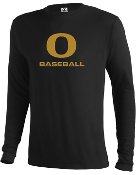 Oxford Baseball Under Gold O Long Sleeve T-Shirt