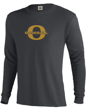 Oxford Baseball Through Gold O Performance Long Sleeve T-Shirt