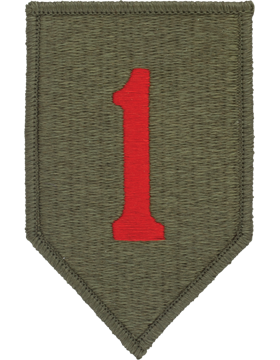 0001 Infantry Division Patch Full Color with Fastener