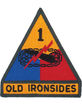 0001 Armor Divison Patch Full Color with Fastener