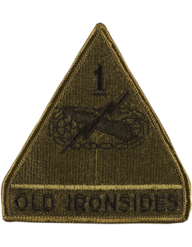 1st Armor Division with Tab Subdued Patch