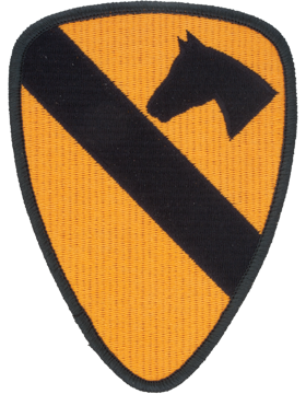 0001 Cavalry Patch Full Color with Fastener