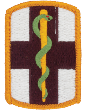 0001 Medical Brigade Patch Full Color with Fastener