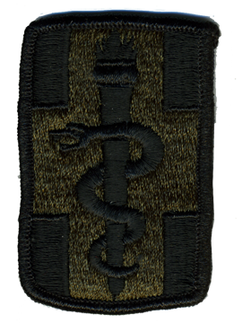 (P-0001L-S) 1 Medical Brigade Subdued Patch