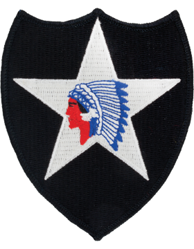 0002 2nd Infantry Division Patch Full Color with Fastener