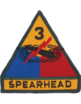0003 Armor Division with Tab Patch Full Color with Fastener