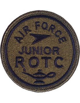 Air Force Junior ROTC Round Subdued Patch