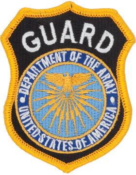 Department Of Army Guard Full Color Hat Size Patch (P-DOA GUARD/2)