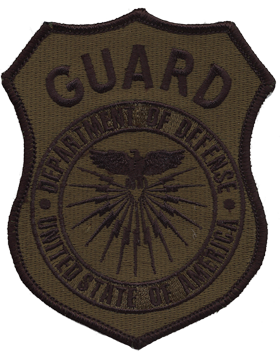 Department Of Defense Guard Subdued Shoulder Patch