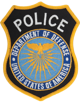 Department Of Defense Police Full Color Shoulder Patch Sew on