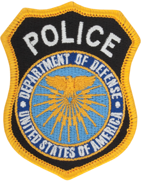 Department Of Defense Police Full Color Hat Size Patch Sew on
