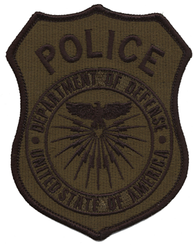Department Of Defense Police Subdued Shoulder Patch
