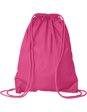 PACK-8881 Blank Sport Bag with Matching Drawstring Hot Pink
