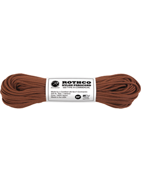 550LB Type III Nylon Paracord 100 Feet Chocolate Brown