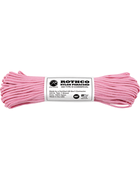 550LB Type III Nylon Paracord 100 Feet Rose Pink