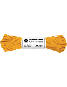 550LB Type III Nylon Paracord 100 Feet Goldenrod