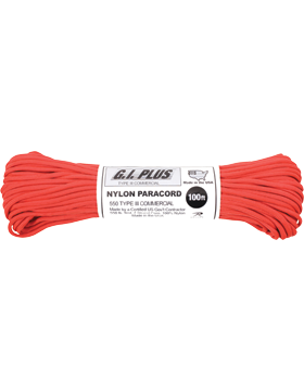 550LB Type III Nylon Paracord 100 Feet Red