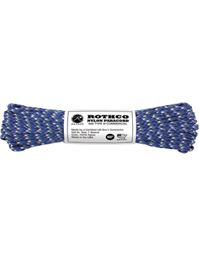 550LB Type III Nylon Paracord 100 Feet Blue Camo
