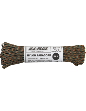 550LB Type III Nylon Paracord 100 Feet Camo