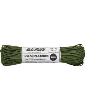 550LB Type III Nylon Paracord 100 Feet O.D.