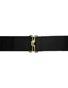 Black Pistol Belt with No Eyelets Gold