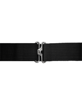 Black Pistol Belt with No Eyelets Nickel