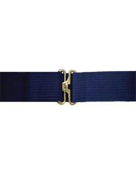 Navy Pistol Belt with No Eyelets Gold