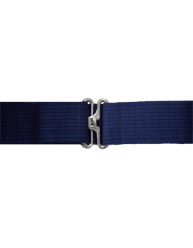 Navy Pistol Belt with No Eyelets Nickel
