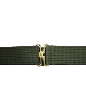 Olive Drab Pistol Belt with No Eyelets Gold