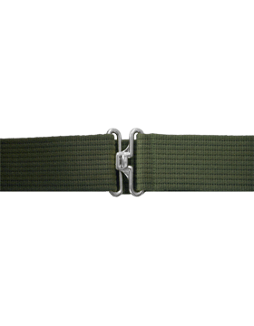 Olive Drab Pistol Belt with No Eyelets Nickel