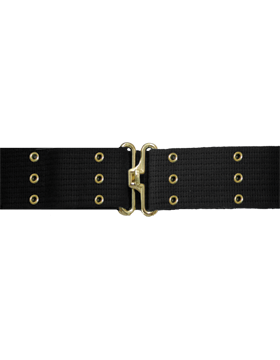 Pistol Belt with Eyelets, Black with Gold