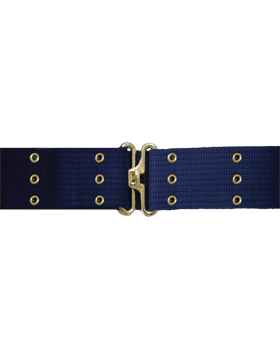 Pistol Belt with Eyelets, Navy with Gold