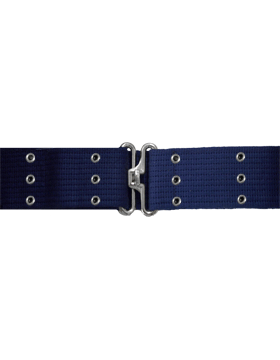 Pistol Belt with Eyelets, Navy with Nickel