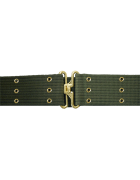 Pistol Belt with Eyelets, Olive Drab with Gold