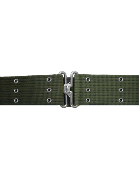 Pistol Belt with Eyelets, Olive Drab with Nickel
